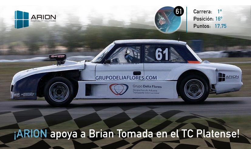 Arion sponsor de un piloto de TC Platense