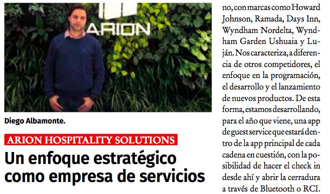 Revista Horeca entrevista al Dir. Comercial Diego Albamonte